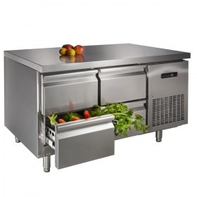 stainless steel counter top fridge