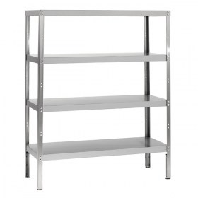 4 tiers stainless steel shelving